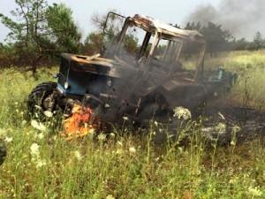 Подорвался трактор 17.07.17 1